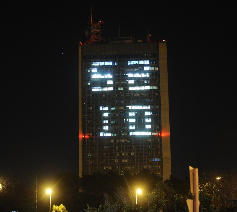 Eshkol Tower with numbers
